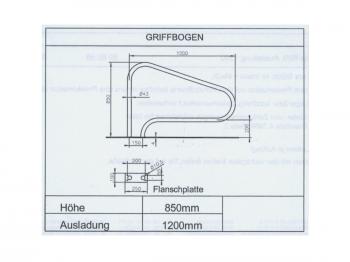 Pool Edelstahl Griffbogen Haltegriff 1,20m