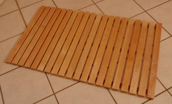 Saunabodenrost Fußrost Bodenrost Bodenmatte Sauna Türmatte Rollrost Fußmatte