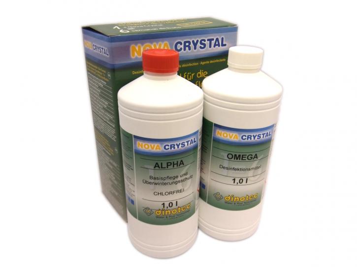 Promotion Set Nova Crystal Chlorfrei 1l Alpha & 1l Omega dinotec Langzeitwasserpflege