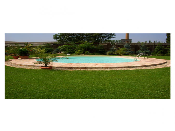 Stahlwandbecken Set Oval - Pool 1,20m tief mit 0,8mm Folie Sand