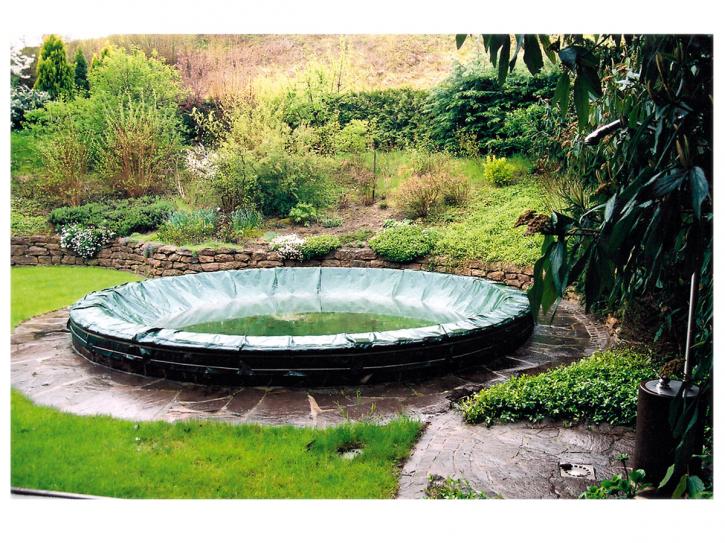 Pool Abdeckplane mit Stahlseil 200g/m²