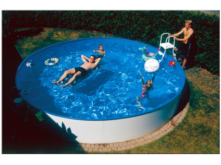 Pool Stahlwandbeckenset Höhe 1,5m - Rundbecken Ø 3,50m