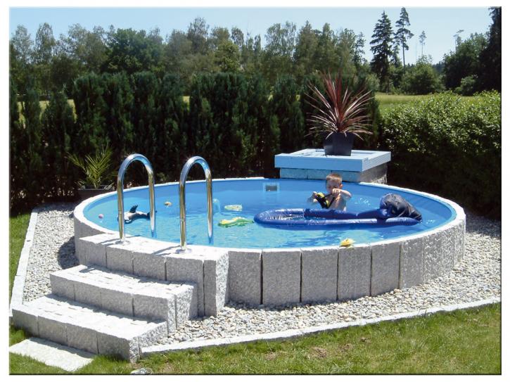 Pool Stahlwandbeckenset Höhe 0,90m - Rundbecken ab Ø 2,00m