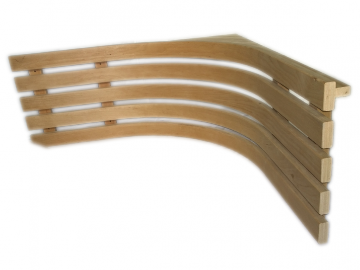 Sauna ECK Rückenlehne 74,5x74,5x30,5cm