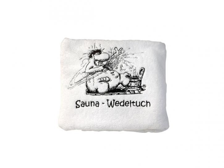 Sauna Wedeltuch - weiß 700 g/m²