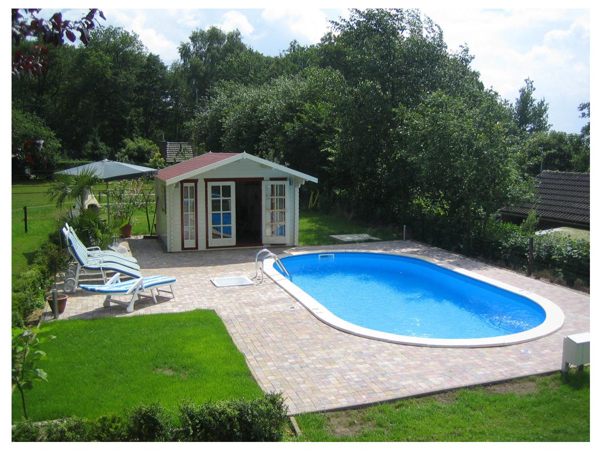Stahlwandbecken Set Oval Pool 1 20m Tief Mit 0 6mm Folie Blau 100101