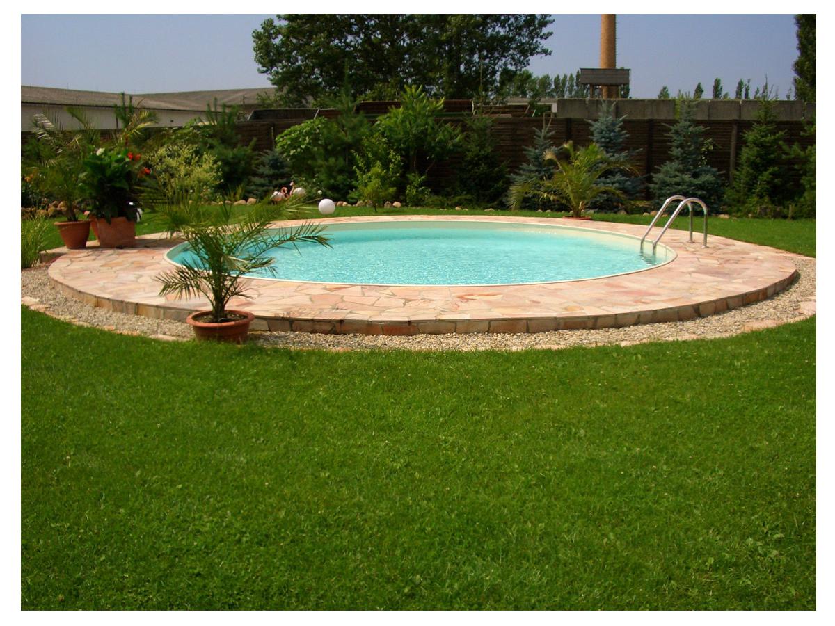 Pool stahlwandbeckenset h he 1 50m rundbecken sandfarben for Pool rundbecken