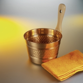 Saunakübel Kupfer mit Kupferkelle