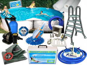 All In above ground pool set FAMILY height 1,20m - eight form pool from 5,25x3,20m