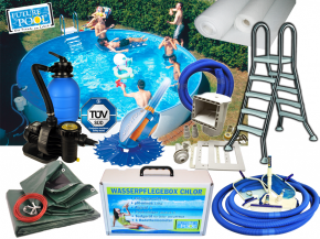 All In above ground pool set FUN height 1,20m- Round Pool