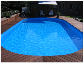 Pool Interior Skin oval 3,60x5,50m 1,25m deep 0.4mm Strong