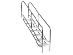 Stainless steel pool stairs with extra wide steps - 4 to 8 Stepped