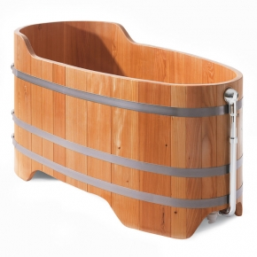 Wooden bathtub larch Premium 151x73cm height 60 cm