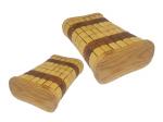 2 Stück Saunakissen Kopfstütze Holzkissen Kopfkeil Rückenlehne Relax Kissen