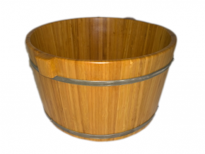 Bamboo foot bath Ø 37cm Height: 22cm