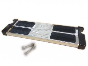 Edelstahldoppelstufe mit Schrauben für Poolleiter - schräger Holm