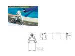 Fahrbare Aufrollstange für Solarplane Pool bis 6,50m