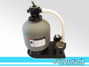 Sand filter system includes pump Top 500