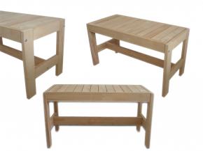 Finnische Saunabank Erlenholz - verschiedene Größen