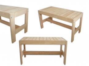Finnische Saunabank Kiefernholz - verschiedene Größen