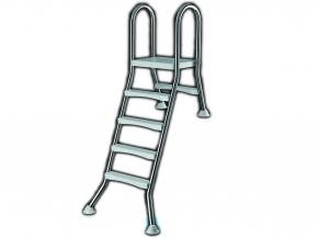 Stainless steel pool ladder for halv free-standing pools to 1,20m- High Beck Head