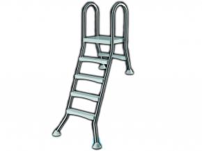 Edelstahl Poolleiter für halb eingelassene Pools bis 1,20m - Hochbeckenleiter