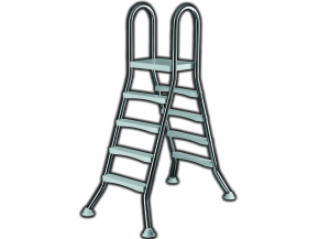 Stainless steel pool ladder for free-standing pools - High Beck Head
