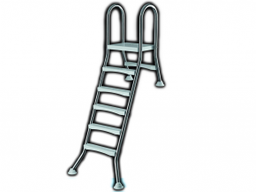 Stainless steel pool ladder for halv free-standing pools to 1,50m- High Beck Head