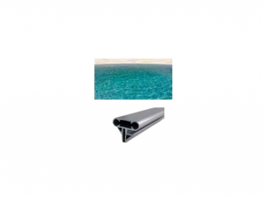 Steel Wall Pool Set Oval - Pool 1.20m deep with 0.8mm foil gray