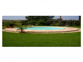 Steel Wall Pool Set Oval - Pool 1.35m deep with 0.8mm foil sand