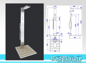 Designer Garden Shower Elba