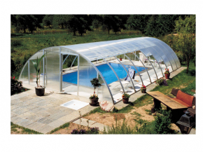 Pool canopy height 2m - High quality self-assembly unit Vöroka