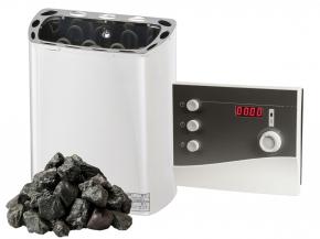 Komplett SET Saunaofen Mini Z Sawotec - 2,3kw / 3kw / 3,6kw + K2 Next Steuerung + Steine
