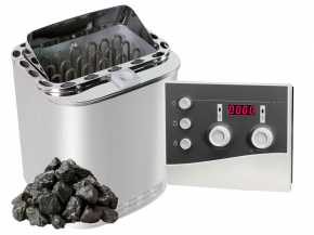Combi sauna heater for choice with Next K3 control + stones