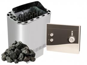 Complete SET Finnish sauna heater Nordex Next - 4.5 kW / 6kw / 8kw / 9kw + K1 Next control + Stones