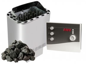 Complete Set Finnish sauna heater Nordex Next - 4.5 kW / 6kw / 8kw / 9kw + K2 Next control + Stones