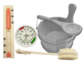Sauna accessories set Exclusive III - With tubs to select