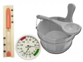 Sauna accessories set Exclusive II - with bucket to choose
