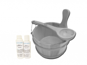 Sauna Accessory Set Exclusive IV - with tubs to choose from