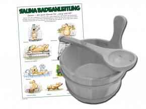 Saunazubehörset Exklusiv I - mit Kübel zur Auswahl
