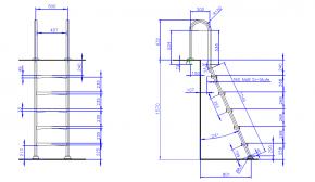 Exklusive Edelstahl Pooltreppe mit Kunststoffstufen 1 bis 5 Stufig