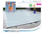 Rollschutzabdeckung - Sicherheitsabdeckung WALU POOL STARLIGHT - Pool 3,00 x 5,00m = Plane 3,40 x 5,40m